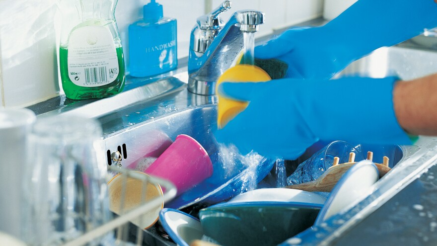 In the division of household tasks, one study shows that washing dishes is the category with the biggest discrepancy between men and women.