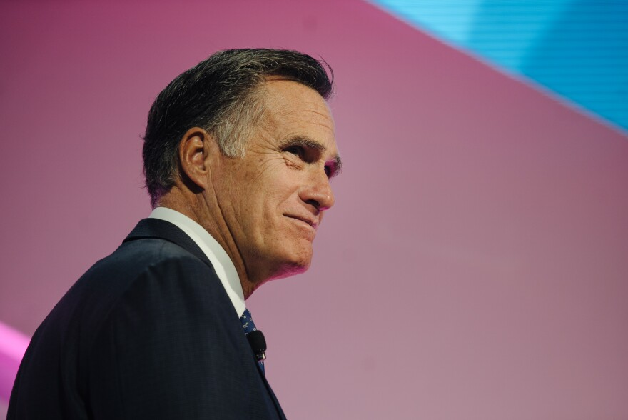 A photo of Mitt Romney.