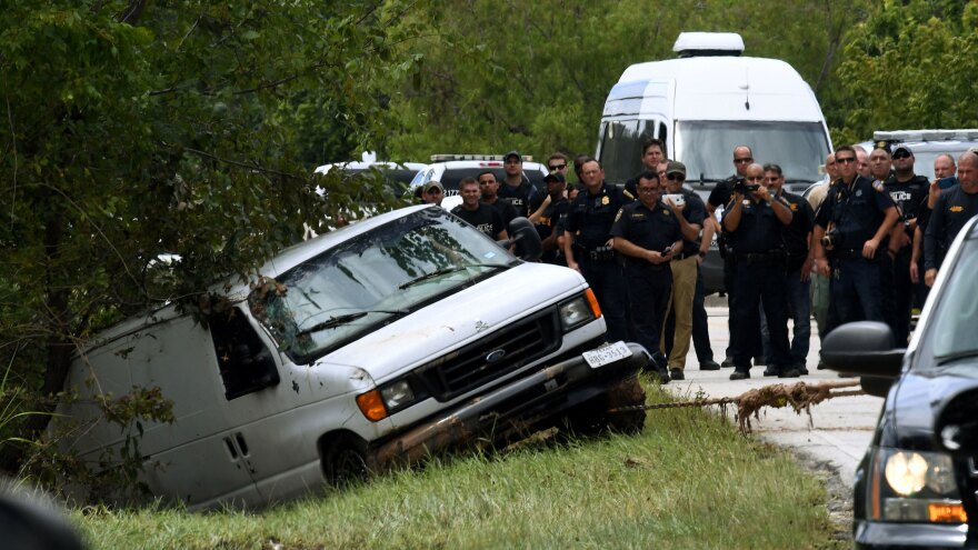 The Saldivar family crashed their van into Greens Bayou as they tried to flee Hurricane Harvey during heavy flooding in Houston on Aug. 30. The death toll from Harvey is much lower than from Hurricane Katrina.