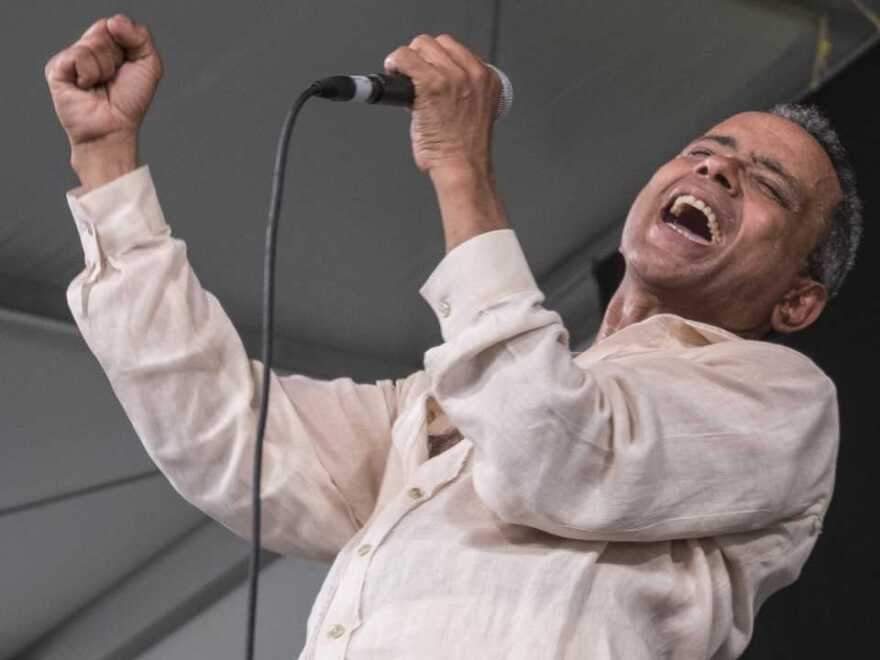 John Boutte's famous performance at the 2006 New Orleans Jazz and Heritage Festival is just one of the beloved performances included in WWOZ's Jazz Festing in Place series.