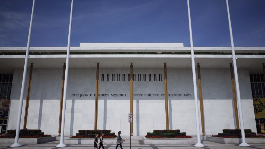 The exterior of the John F. Kennedy Center for the Performing Arts in Washington, D.C.