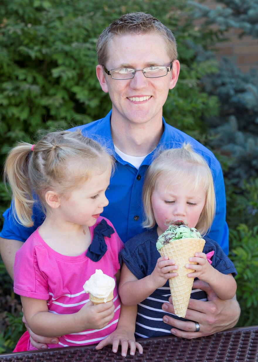 Who's Daddy's girl? Researcher Alex Jensen says he really loves Charlotte, 3, and Olivia, 2, equally. But he couldn't resist staging this photo after researching favoritism in families.