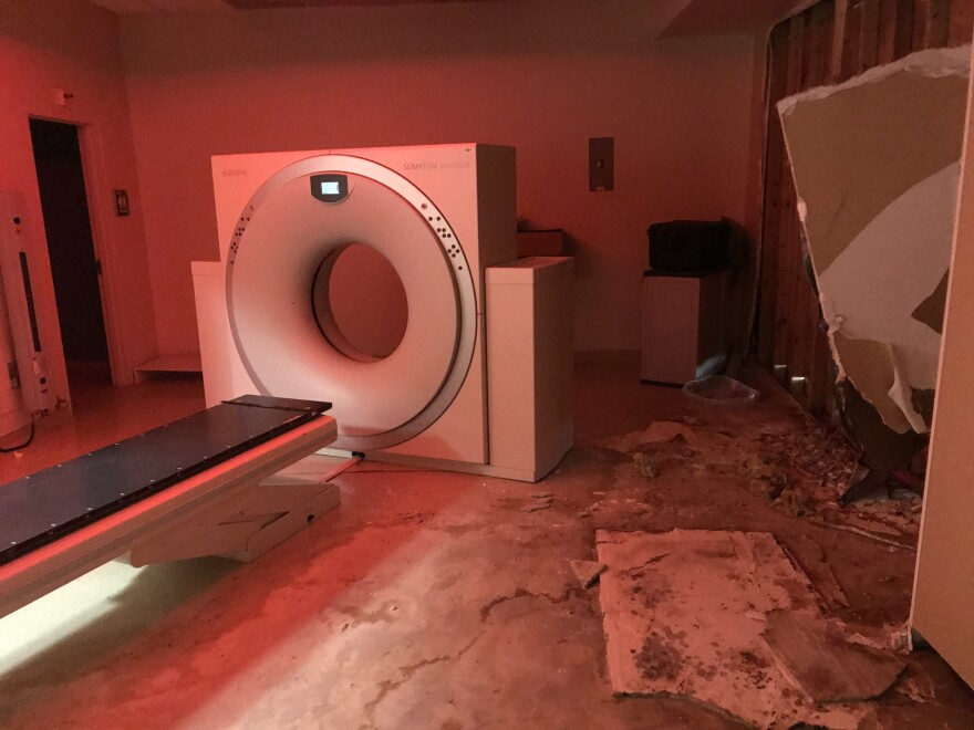 Patients seeking cancer treatment in the U.S. Virgin Islands must now go to the mainland. The Charlotte Kimelman Cancer Institute at Schneider Regional Medical Center on St. Thomas remains closed because of extensive damage to areas like the CAT scan suite.