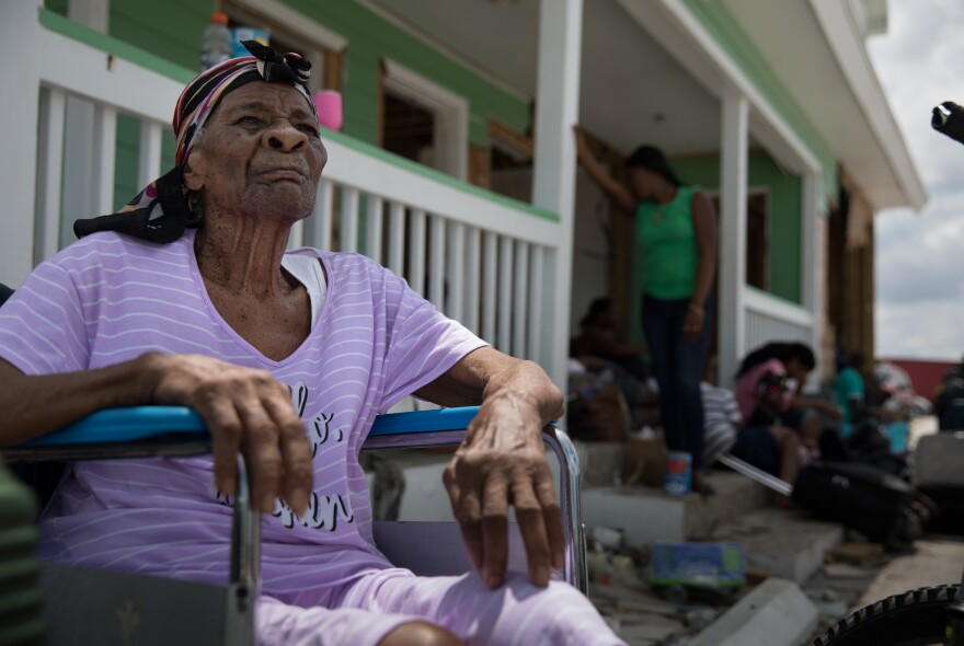 Amalia Calixte, 88, who is unable to walk on her own, is among those waiting desperately to evacuate the devastated islands of Abaco and Grand Bahama.