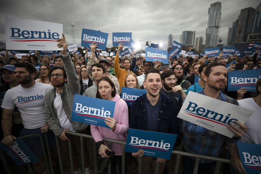 An estimated 12,700 people attended Sanders' rally at Auditorium Shores in Austin on Sunday.