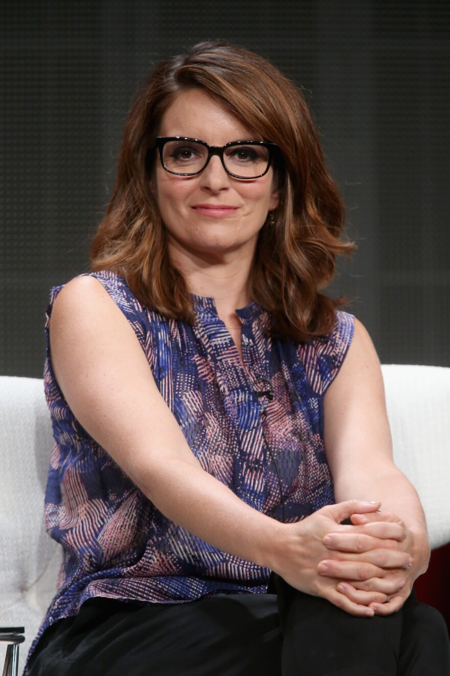 Tina Fey talked about <em>Unbreakable </em><em>Kimmy Schmidt </em>at the Television Critics Association press tour on Tuesday in Beverly Hills, Calif.