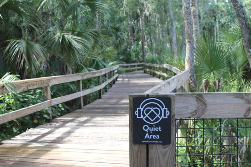"""One of the designated """"Quiet Areas"""" at the Central Florida Zoo and Botanical Gardens."""