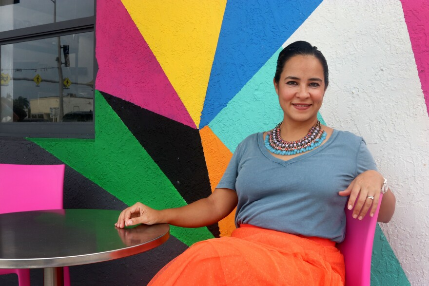 Pilar Guzman Zavala is the CEO of Half Moon Empanadas. a company she owns with her husband.