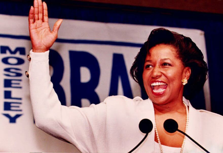 Carol Moseley Braun became the first Black woman to serve in the Senate when she was elected to represent Illinois in 1992.