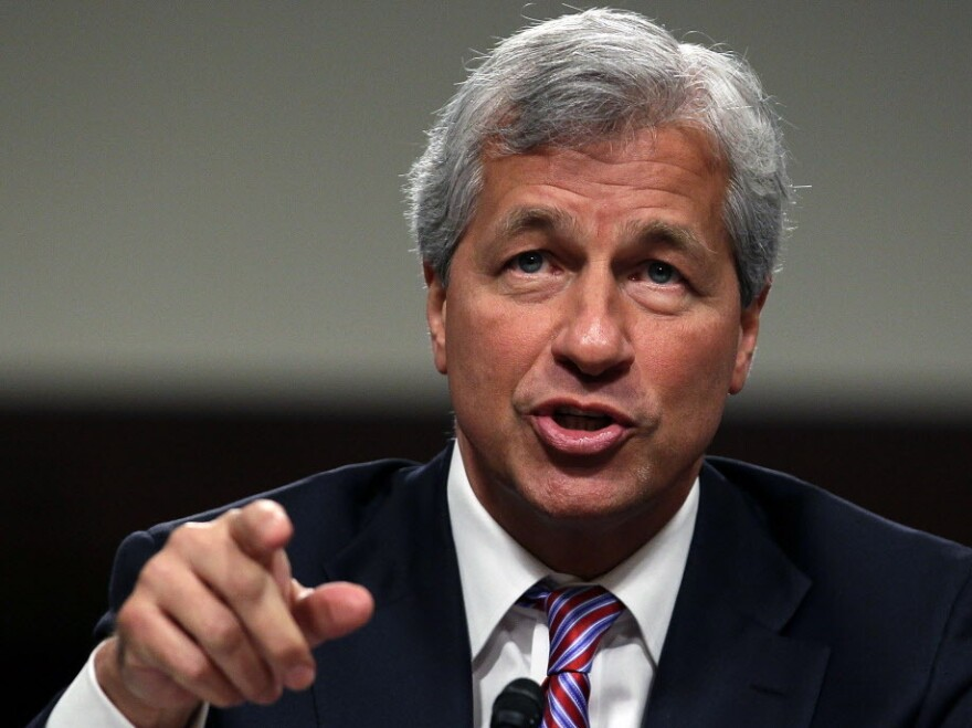JPMorgan Chase CEO Jamie Dimon during his testimony today on Capitol Hill.