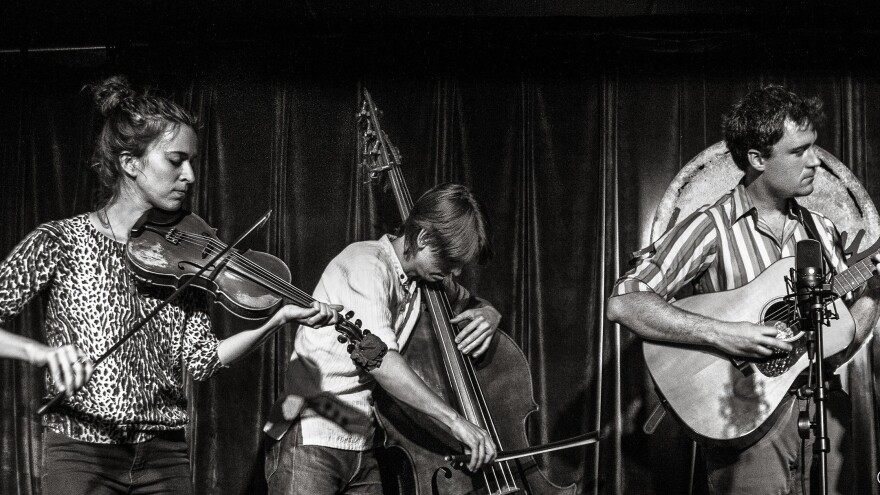 Instrumental acoustic ensemble, Hawktail, is featured on this week's episode.