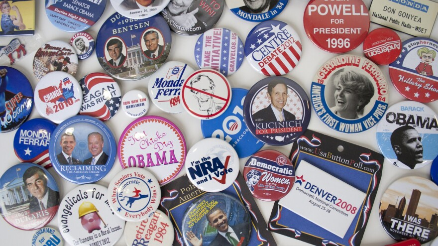 A look at some of Nation Political Correspondent Don Gonyea'™s favorite political buttons. Gonyea has been covering campaigns for NPR since 1988 and says he's been collecting campaign items for much longer.