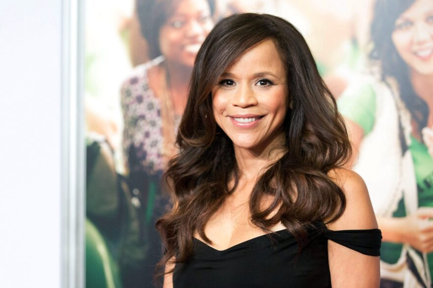 """Rosie Perez talks to Here & Now's Robin Young about the 25th anniversary of """"In Living Color."""" Dario Cantatore/Invision/AP)"""