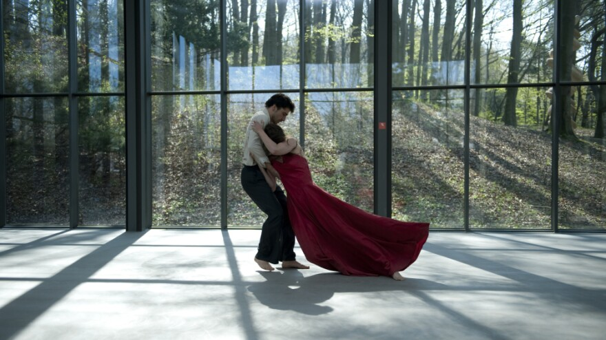 Damiano Ottavio Bigi and Clementine Deluy, both members of the Tanztheater Wuppertal under Pina Bausch, perform her choreography in <em>Pina</em>.