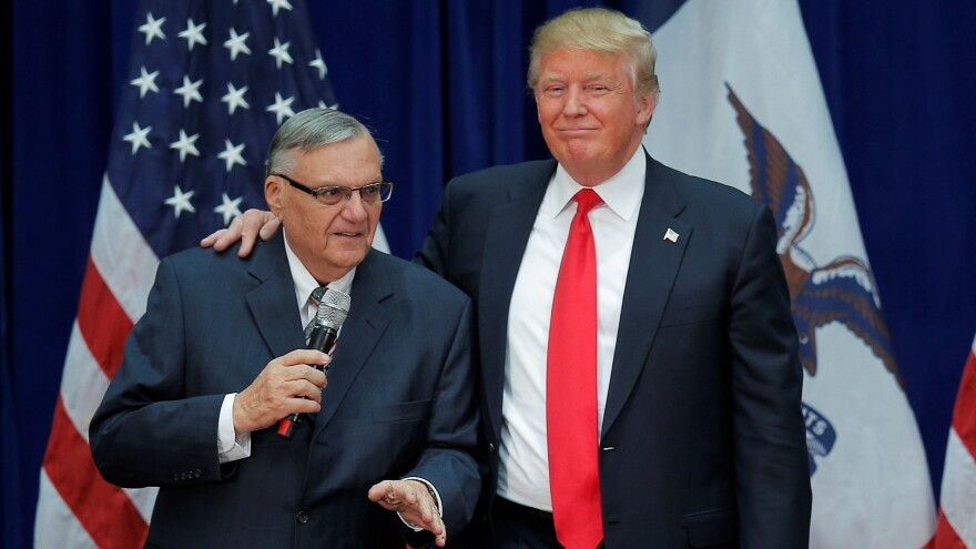 Former Maricopa County Sheriff Joe Arpaio helped Donald Trump during the 2016 presidential campaign — and now he wants to help the president in Washington.