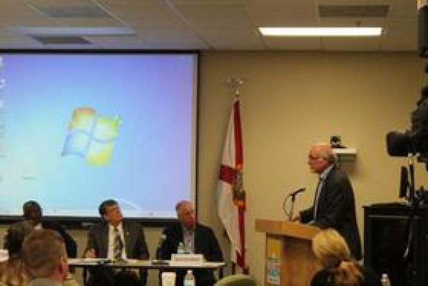 James Coffin, executive director of the Interfaith Council of Central Florida, urged the hospital commission to consider health care for the poor.