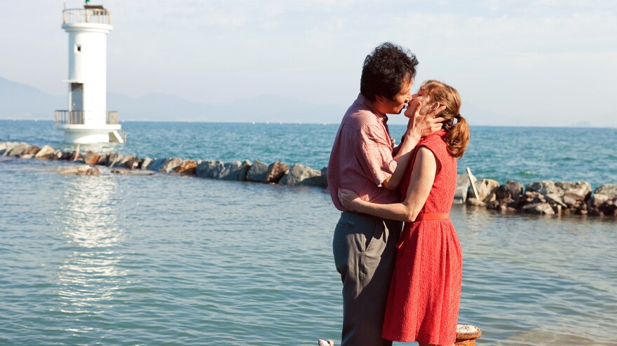 <em>In Another Country</em> is structured as three different stories around three women named Anne — all played by Isabelle Huppert. Moon Seong-keun plays Munsoo, a filmmaker with whom one of the Annes has an affair.