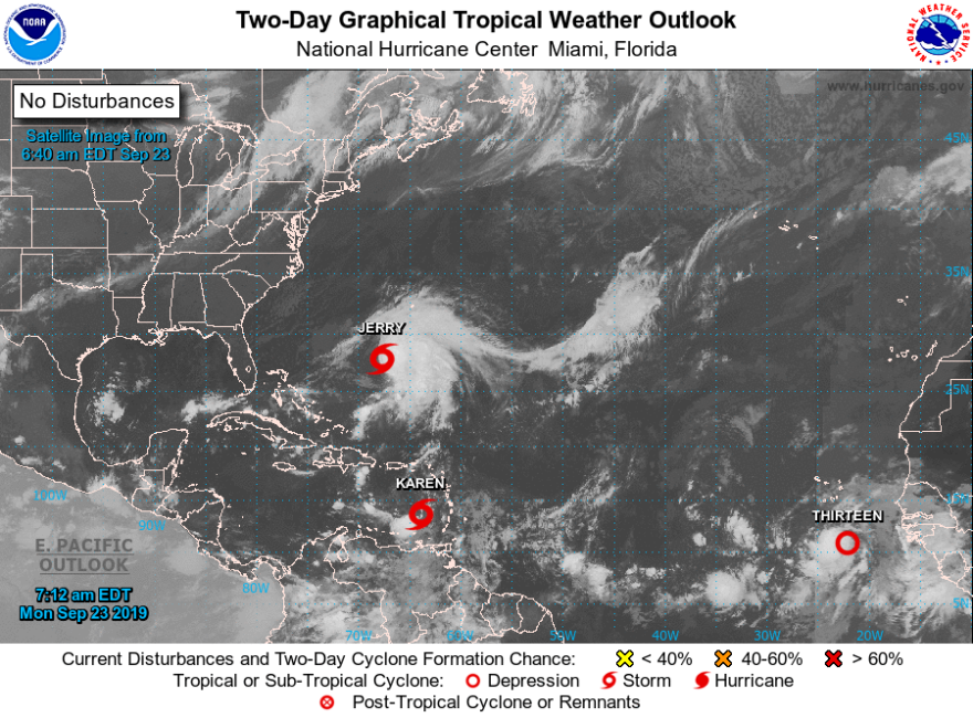 Forecasters are monitoring three tropical systems. NATIONAL HURRICANE CENTER
