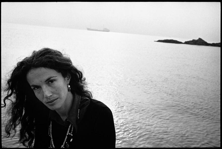 Mary Ellen by the water, near Belfast, Northern Ireland, 1972.