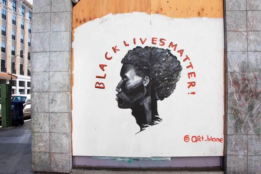 Blane Asrat's mural in Downtown Oakland, California.