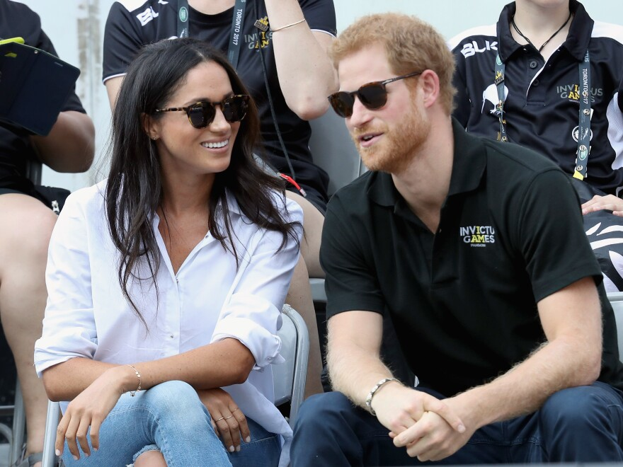 Prince Harry and Meghan Markle attend a wheelchair tennis match during the Invictus Games 2017 in Toronto. Prince Harry created the games in 2014.