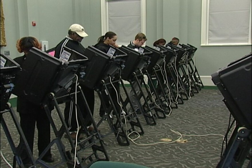 a photo of voters