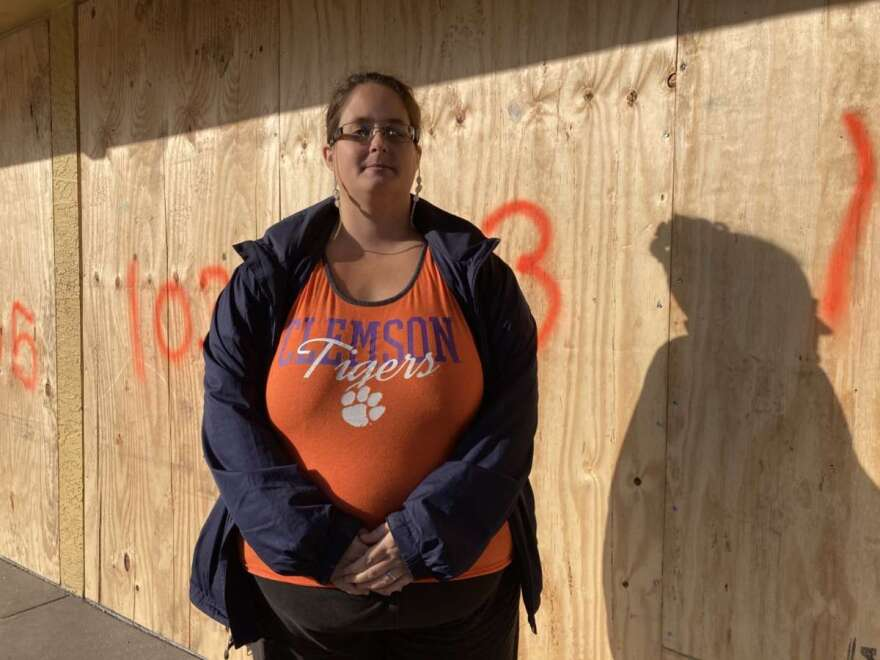 Sarah Russo stands in front of the Star Motel. Photo: Danielle Prieur