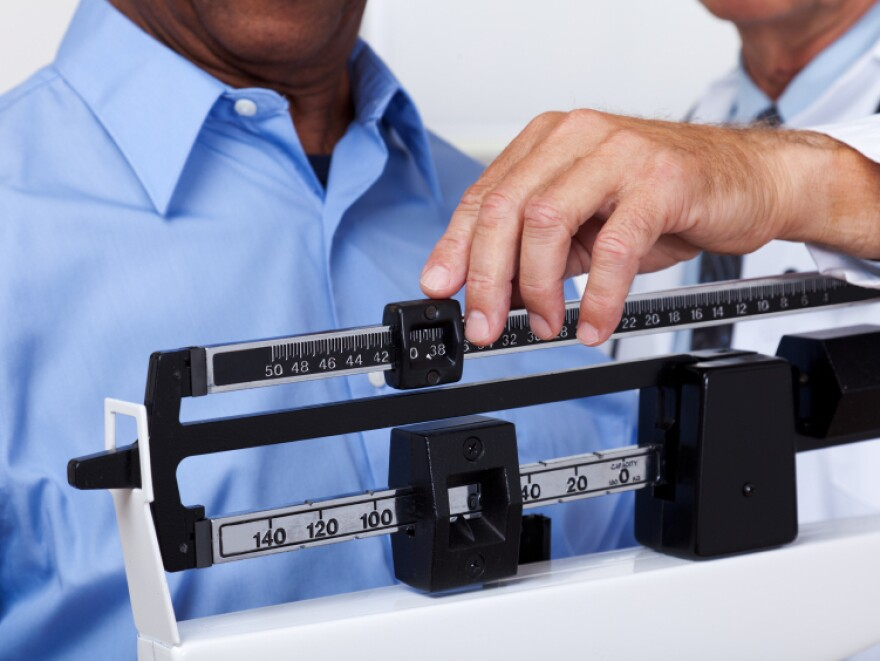 This might be a good time for the doctor to talk about the benefits of shedding a few pounds.