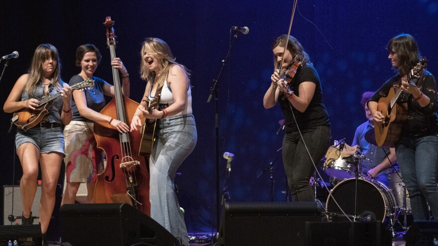 Della Mae performs on the AmericanaFest Day Stage presented by NPR Music, WMOT and <em>World Cafe</em>.