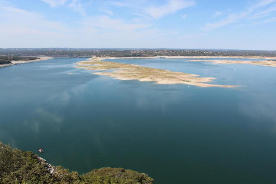The Sometimes Islands in Lake Travis