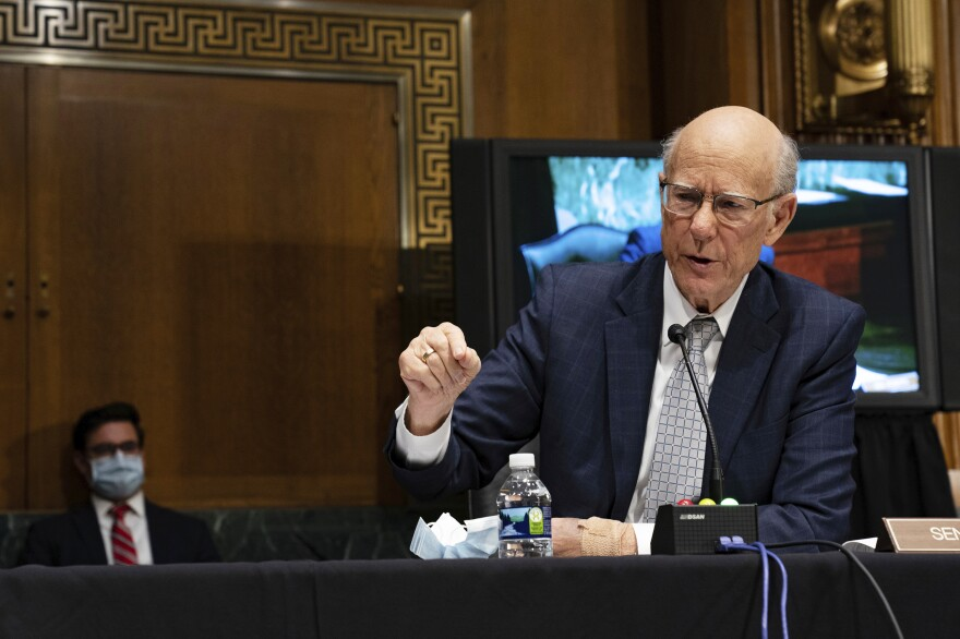 Sen. Pat Roberts, R-Kan., speaks during a Senate Health, Education, Labor and Pensions Committee hearing on new coronavirus tests on Capitol Hill on May 7.