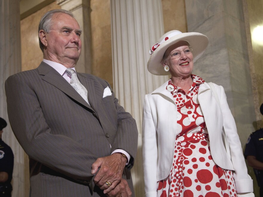 Danish Queen Margrethe and Prince Henrik arrive on Capitol Hill in Washington in 2011.