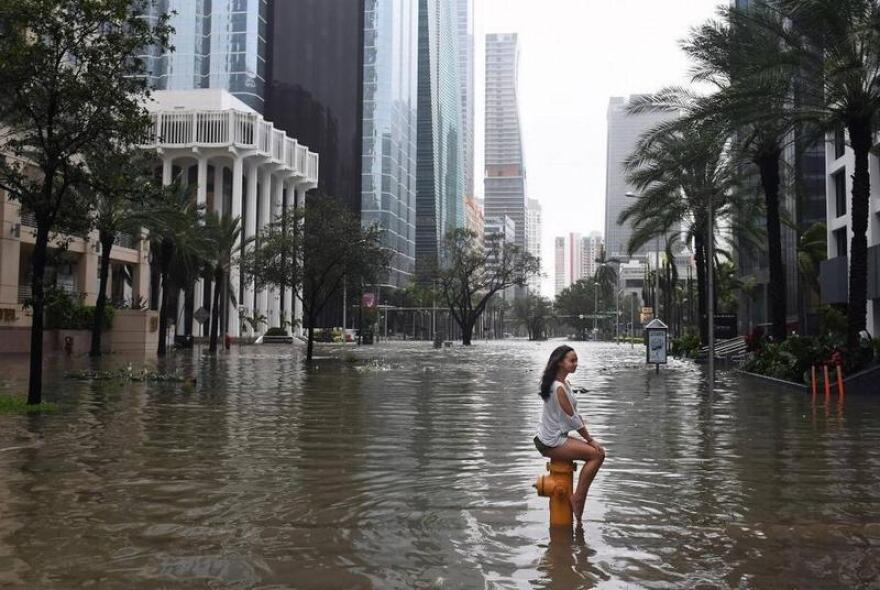 Hurricane Irma sent a four- to six-foot storm surge across parts of Biscayne Bay, flooding Brickell Avenue.