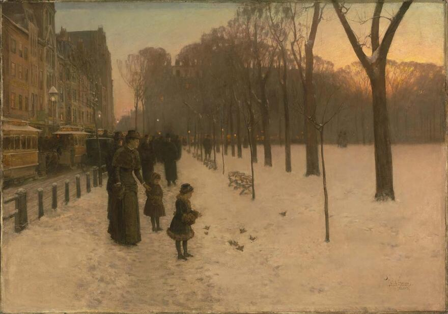 Childe Hassam, <em>At Dusk (Boston Common at Twilight)</em>, 1885-86