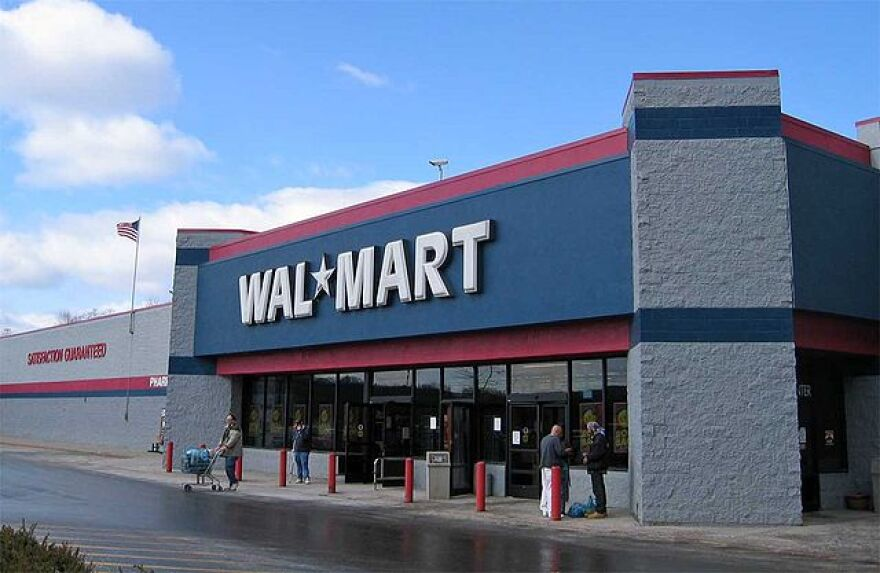 Photograph of a Wal-Mart store exterior.