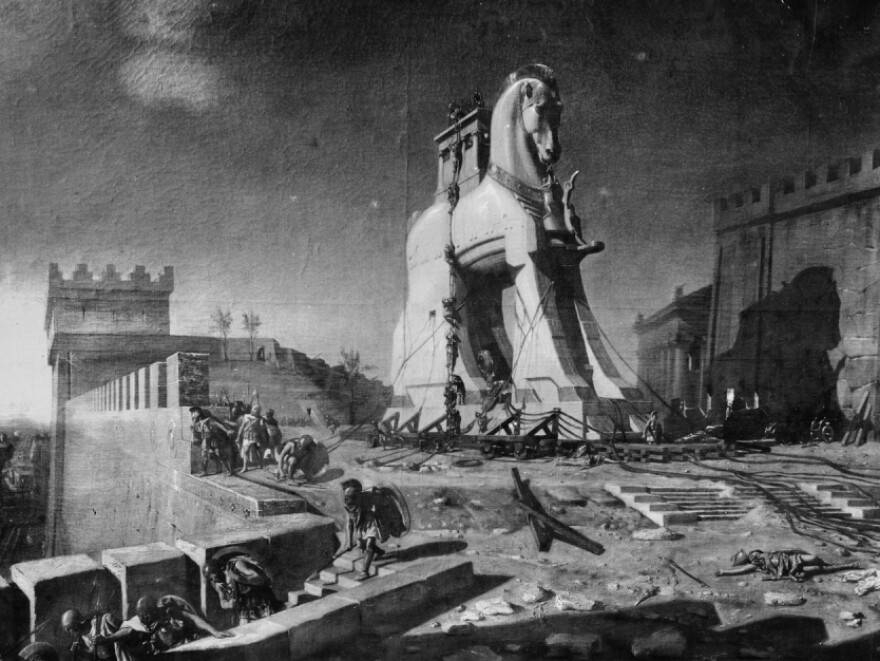 One of the earliest accounts of a surprise attack comes from Greek mythology: the Trojan Horse.