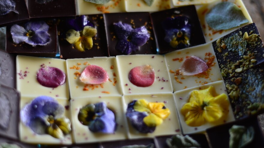 John Clemons takes flowers out of their natural context with his newest venture, Coco Savvy, which combines them with chocolate.