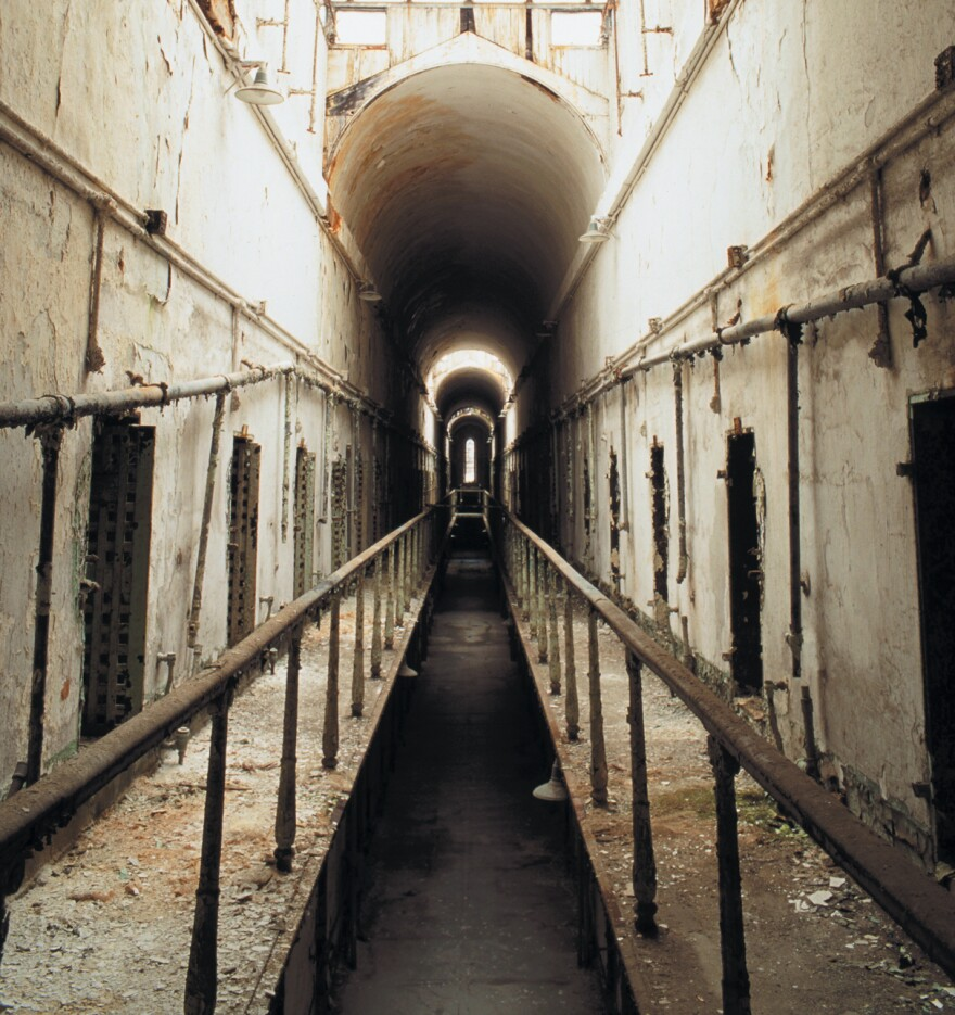 Pep roamed the halls like that of cell block 5 in Eastern State Penitentiary, pictured in 1998 after closing in 1971.