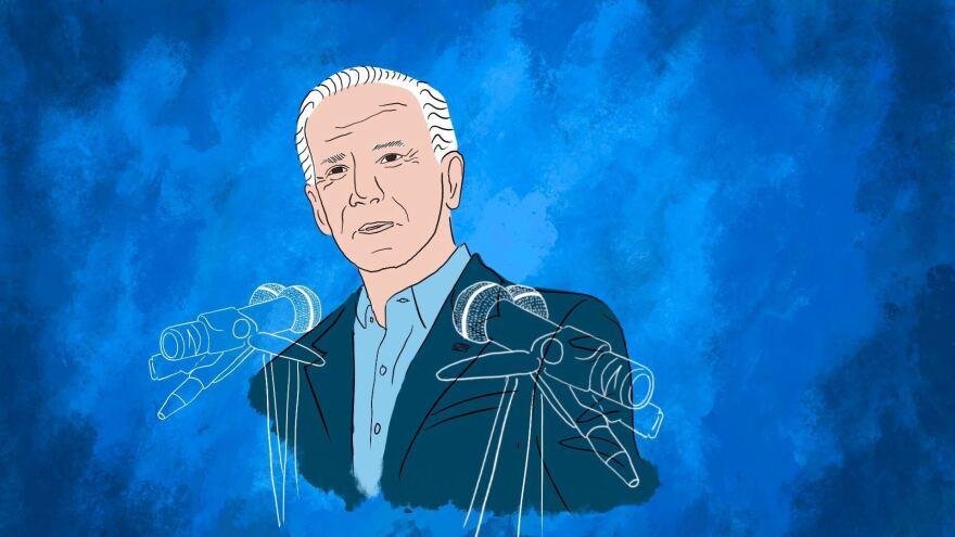 Joe Biden addresses the Democratic National Convention on Thursday.