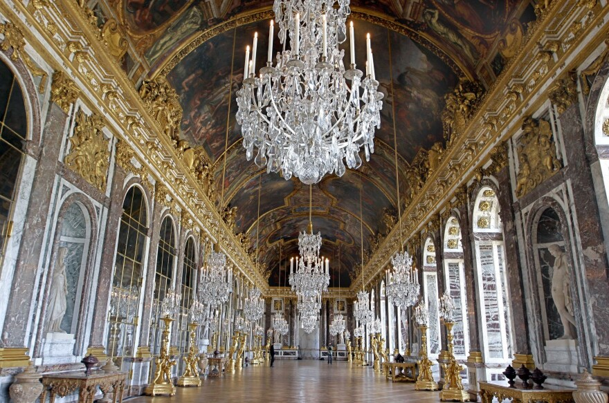 "The Hall of Mirrors at the Palace of Versailles, near Paris, on June 25, 2007. The Treaty of Versailles was <a href=""https://www.britannica.com/event/Treaty-of-Versailles-1919/media/1/626485/158272"">signed here</a> on June 28, 1919."