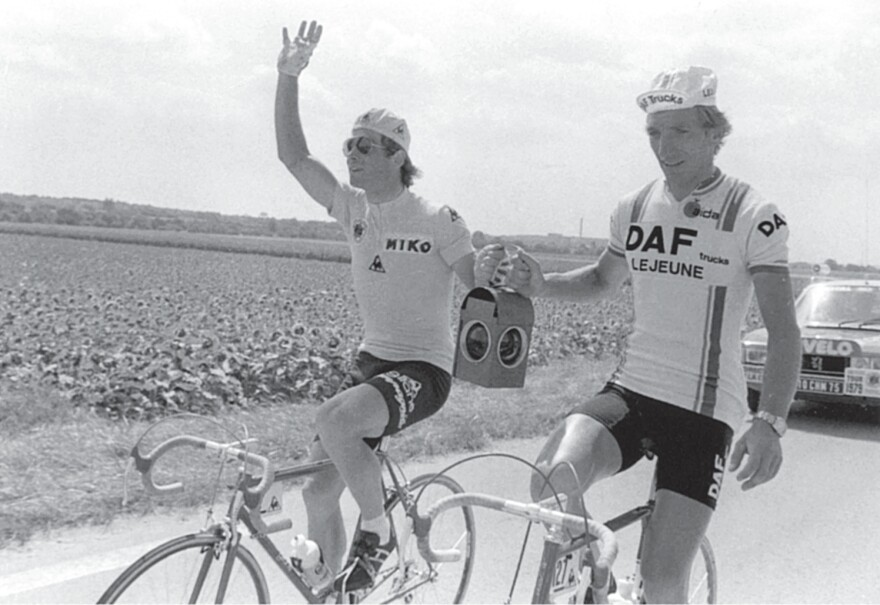 Bernard Hinault and Gerhard Schonbacher were the first and last to finish the Tour de France in 1979.