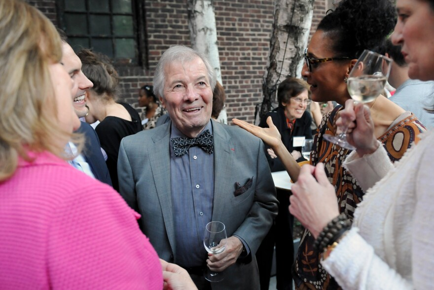 Acclaimed French chef Jacques Pepin (center) has had an extraordinary 60-year career. He says his new cookbook, <em>Jacques Pepin: Heart and Soul in the Kitchen, </em>will be his last. Maybe.
