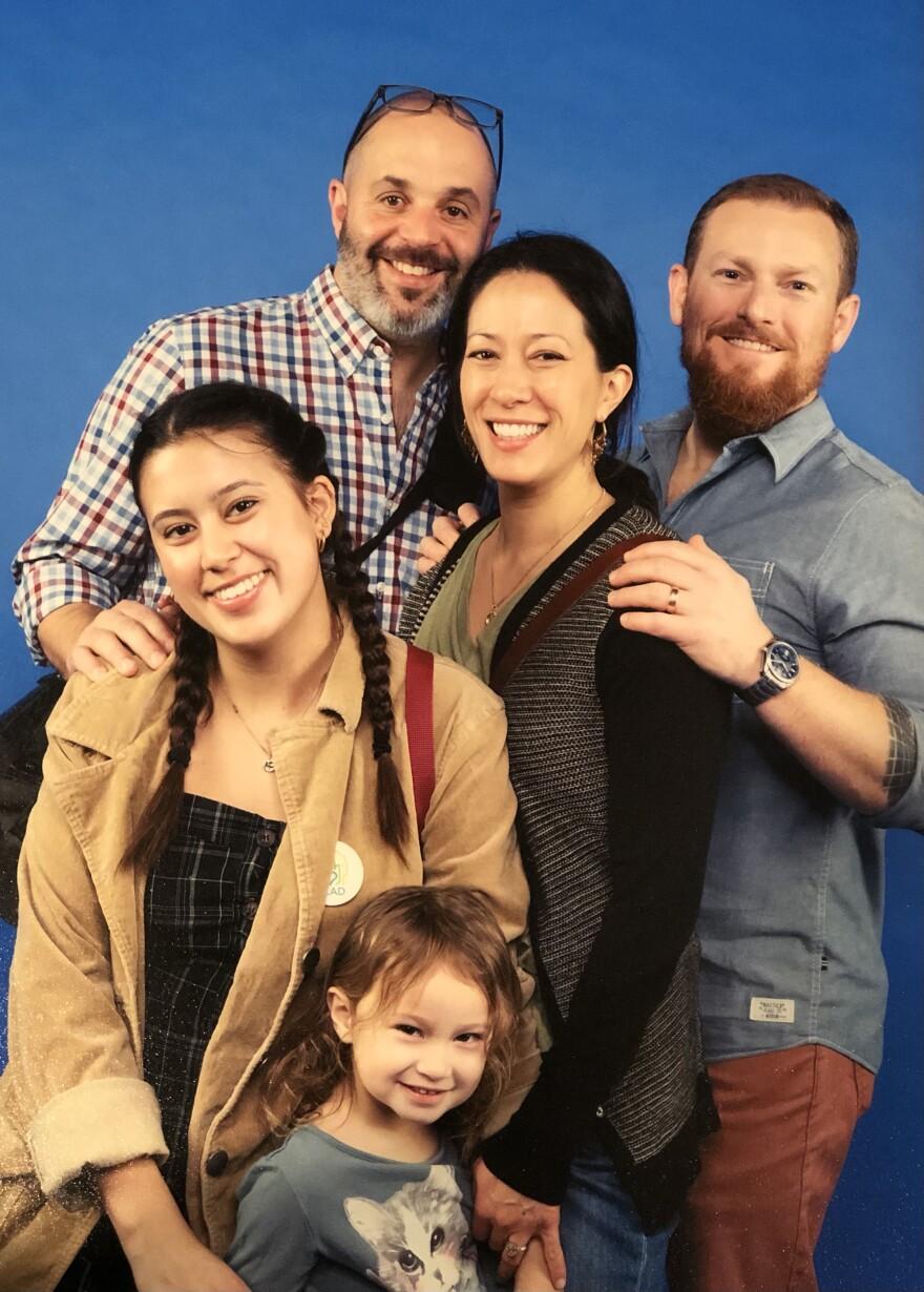 Clockwise from top left: Jason Deitz, Ana Ware, Jason Ware, Indigo Ware and Gwen Deitz.