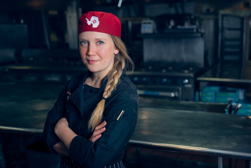 """McAdoo uses cakes to tell stories. She was drawn to the """"fun, frivolous notion"""" of becoming a pastry chef but also wanted a career with social impact."""