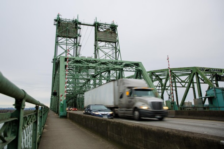 <p>The Interstate 5 bridge connecting Washington and Oregon across the Columbia River as seen from Vancouver, Washington, Saturday, Dec. 15, 2018.</p>