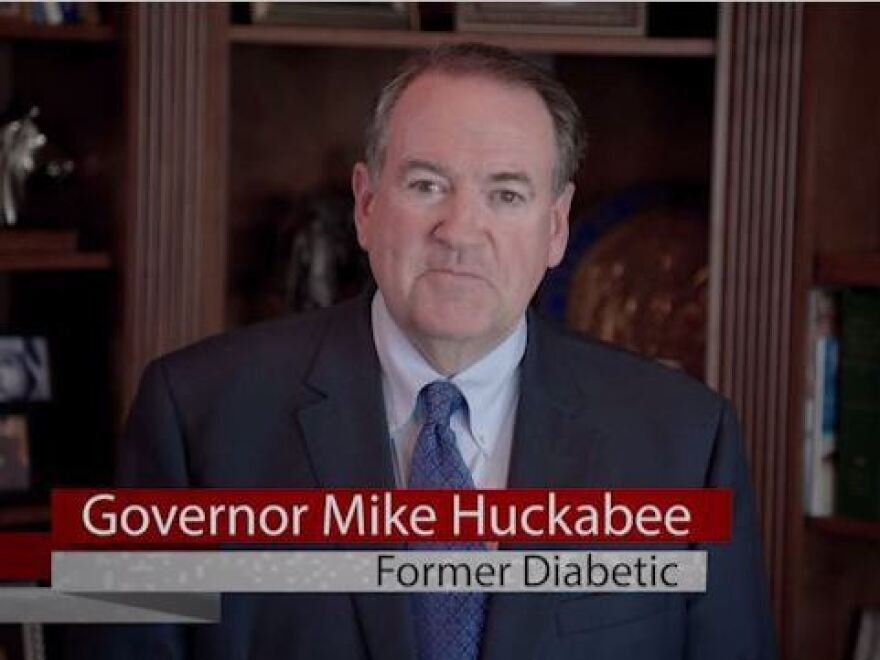 Former Gov. Mike Huckabee's ad for the Diabetes Solution Kit.