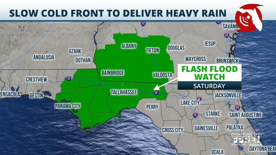 Flash Flood Watch Issued for Parts of the Panhandle for Saturday