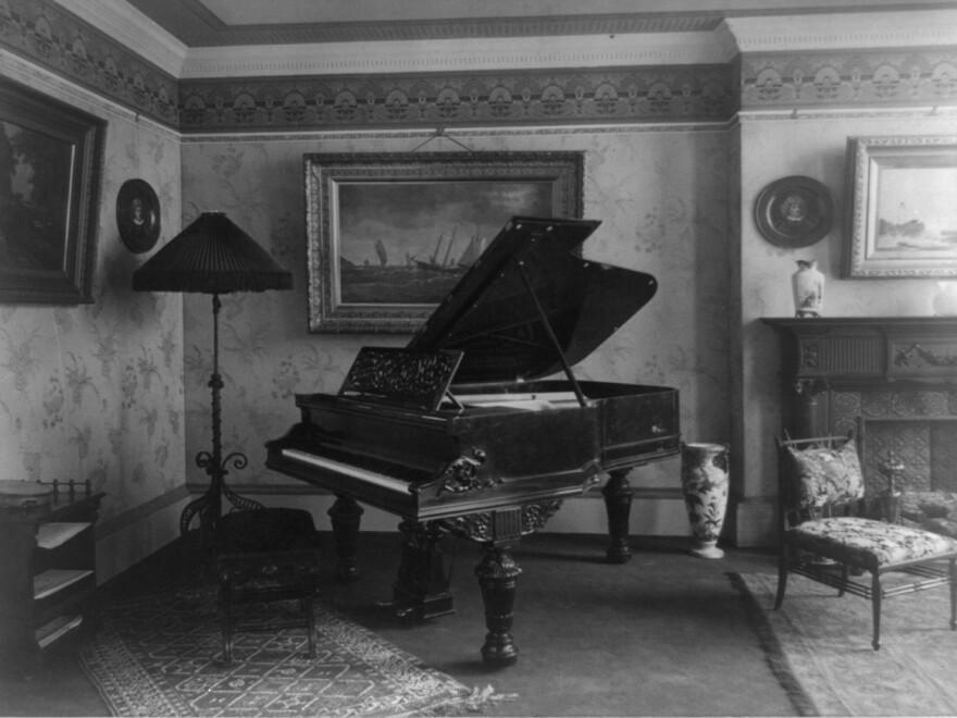 An American parlor, circa 1890.