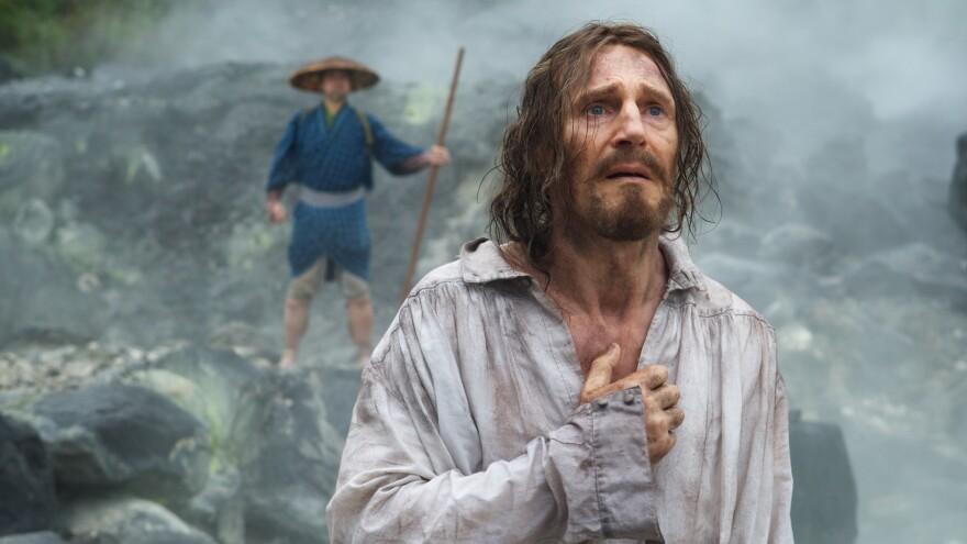 Liam Neeson is Father Ferreira in Martin Scorsese's <em>Silence</em>.