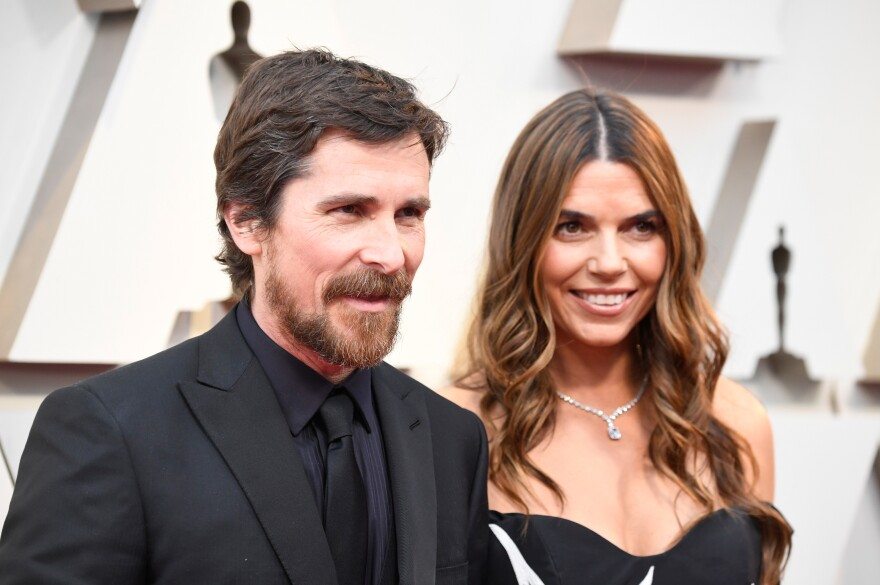 Christian Bale, left, and Sibi Blazic, right